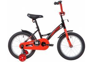 """Велосипед NOVATRACK 16"""" STRIKE черный-красный, тормоз нож, крылья корот, полная защита цепи"""