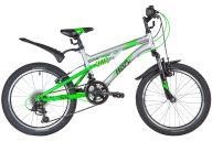 """Подростковый велосипед  NOVATRACK 20"""" TITANIUM, серебристый, сталь, 12 скор., SHIMANO, V-Brake"""