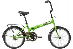 """Велосипед NOVATRACK 20"""" складной, TG30, салатовый, тормоз нож,двойной обод,сид.и руль комфор"""
