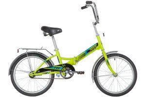 """Велосипед NOVATRACK 20"""" складной, TG20, зеленый, тормоз нож, двойной обод, багажник"""