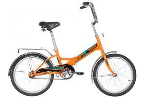 """Велосипед NOVATRACK 20"""" складной, TG20, оранжевый, тормоз нож, двойной обод, багажник"""