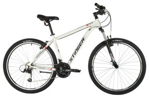 "Велосипед STINGER 27.5"" ELEMENT STD белый, алюминий, размер 18"", MICROSHIFT"