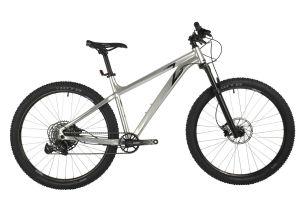 "Велосипед STINGER 27"" ZETA EVO серебристый, алюминий, размер 18"""